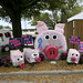 The Nash County 4-H display of decorated hay bales sums up the total fair experience.