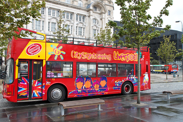 Liverpool. City tours bus