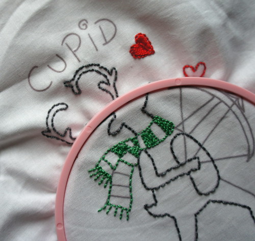 Reindeer Embroidery - Cupid (partial)