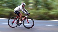 Ciclista (freakyman) Tags: olympus tenerife ciclismo ciclista panning e1 barrido zd 35mmmacro35 laslagunetas