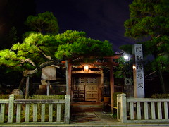 Ancient Clan House (D.S.B) Tags: street old city house building tree japan pine night japanese town wooden kyoto gion japanesehouse clanhouse oldpinetree gionnight gionwoodenbuilding