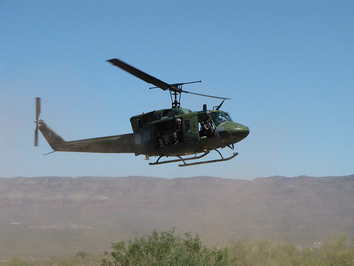 A Huey coming in for a landing by CharlesRay2010