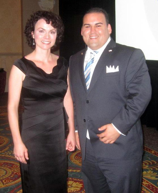Nevada Republican State Chair Amy Tarkanian and Keith Kuder.