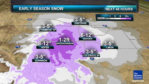 Colorado snow predictions for 10.26.11