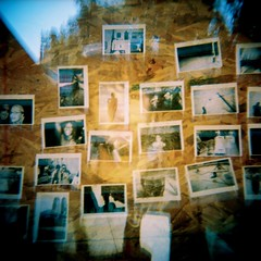 Jason In The West Village (emibell) Tags: newyorkcity streetart newyork color art yellow holga lomo lomography hipsters alt doubleexposure manhattan westvillage yellowflash advertisement polaroids colorflash cfp colorfilm 2011 indiekids holgacolorflash jasonlester instantphotographs colorfilmphotography modernpolaroid emibell