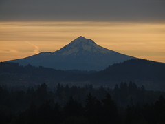 Portland, Oregon. Mt. Hood sunrise.