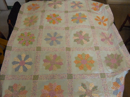 unfinished quilt collection: dresden quilt