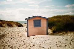 (Monica Forss) Tags: sea summer film beach analog 35mm sand sweden beachhut analogue skanr agfavista200 minoltaprod20s expired022011