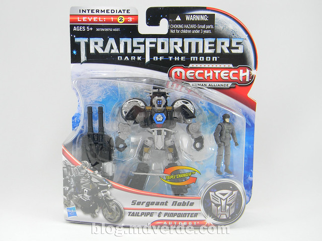 Transformers Tailpipe & Pinpointer DotM Human Alliance Scout - caja
