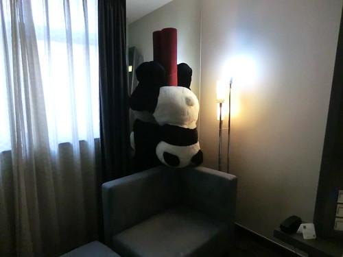 Handstanding panda @ Novotel hotel in BeiJing