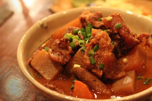 stewed gyusuji & daikon