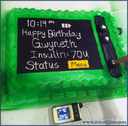 Another awesome insulin pump cake.  :)