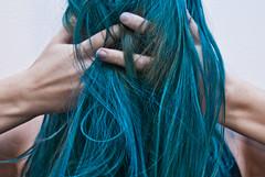 Hiding (evilibby) Tags: blue green girl turquoise finger fingers hidden human hide libby 365 hiding bluehair mybedroom dyedhair greenhair 365days 3654 turquoisehair 365days4 dyedfingers gerrrr dyedfingernails