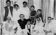 Sheikh Mujib with family