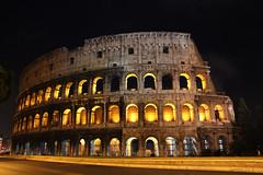 [フリー画像素材] 建築物・町並み, 遺跡, コロッセオ・コロッセウム, 風景 - イタリア, 夜景 ID:201111100000