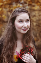Autumn (Gabca.P) Tags: autumn portrait fall leaves republic czech portret podzim liberec portrt 2011 dvka listy podzimn slena gabcap prattingerova