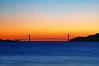 Golden Gate Bridge (Lee Sie) Tags: sf sanfrancisco california bridge blue sunset sky orange moon water silhouette marina lights bay berkeley marin goldengatebridge albany lpf16