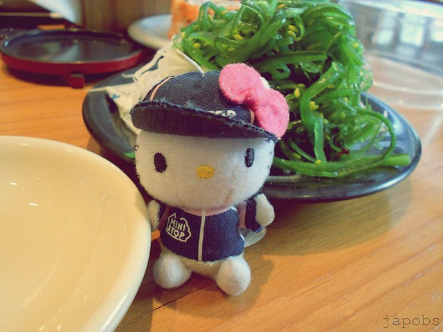 hello kitty goes to Sushi Tei