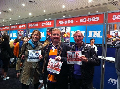 Our start numbers for the New York Marathon