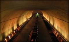 Escalator  Subway- Going up (blmiers2) Tags: travel light urban up architecture canon subway photography gold golden washingtondc dc washington other escalator going powershot g6 blm18 blmiers2
