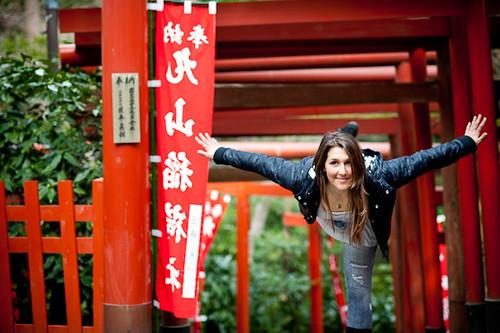 Jen Hudak in Japan