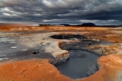 Nmafjall (DavidBurstein) Tags: sky water zeiss landscape iceland mud earth steam canon5d geothermal boilingmud carlzeiss askja steamvent nmafjall fumarole leefilter canon5dmkii 09hardgrad zeissdistagont21mmf28