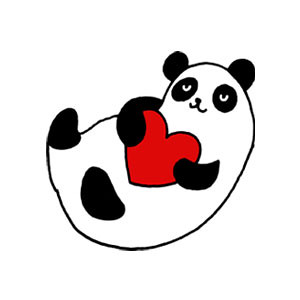Panda Heart Icon Design for Pixelgirl