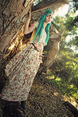 Talya Poxleitner (Dar.shelle) Tags: blue portrait sun fashion forest canon hair woods princess stevens 7d zelda whimsical darshelle