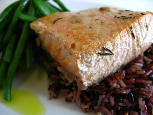 Oil Poached Salmon recipe
