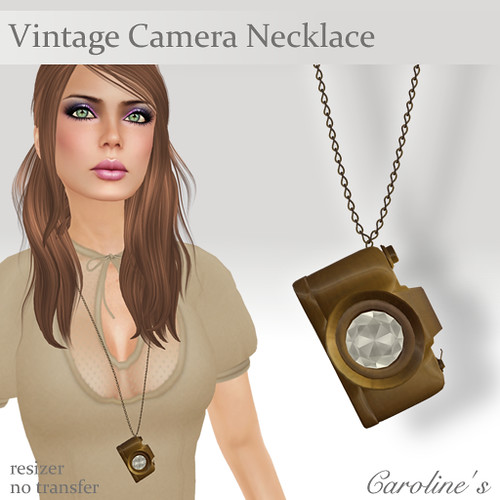 Caroline's Jewelry Vintage Camera Necklace