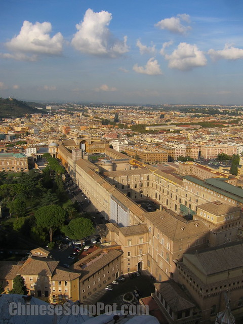 [photo-view of vatican museum from st peter's basilica dome]