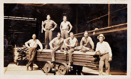 William Harcourt Gollings and Coworkers at Lumber Yard