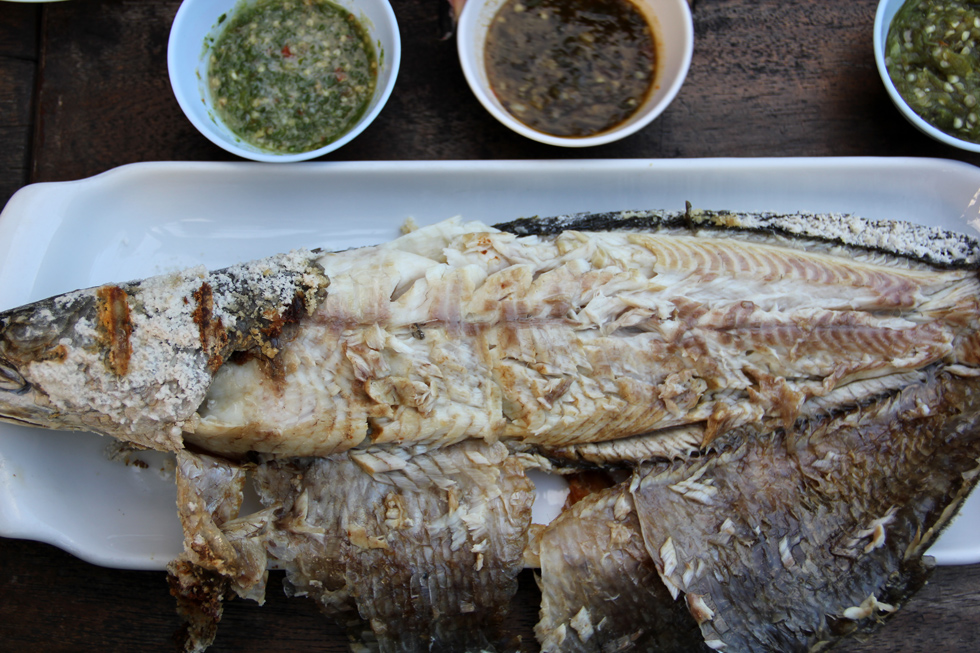 Thai Style Roasted Snakehead Fish
