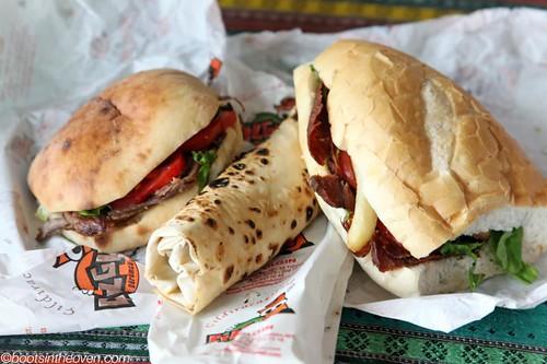 Various Döner Sandwiches