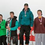 Miele Cup FIS Slalom, Grouse Mountain 2012 - 1 LEDUC Mathieu (MWSC); 2 LLEWELLYN Austin (WMSC); 2 BOIT Colin (USA); 4 RENZONI Charlie (WMSC); PHOTO CREDIT: Robert Kwong, rkcg@uniserve.com
