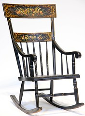 66. 19th Century Painted Rocking Chair