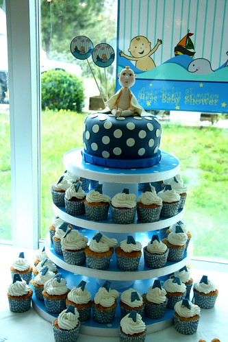 Aras' Baby Shower Cupcake Tower