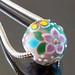 Charm bead : Viola garden