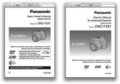 Panasonic FZ47 / FZ48 -- Basic and Advanced Manuals