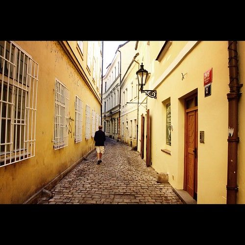 Lonely Prague Alley by kloppster