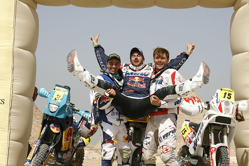 Marc Coma podium Rally Faraones