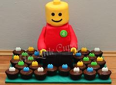 Lego Mini Cupcakes (Klaire with a Cake) Tags: birthday lego little cupcake tlc legoman cupcakery legoblock klairescupcakes