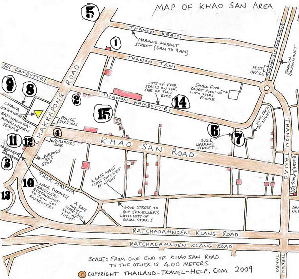 Khao san Road Map