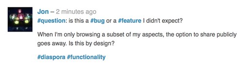 #question: is this a #bug of a #feature I didn't expect?