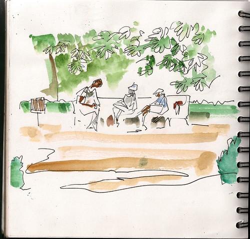 33 sketchcrawl Madrid, esforzados dibujantes