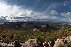 Wichita Mountains Pano (maxstier) Tags: sky panorama clouds wichitamountains wichitamountainswildliferefuge lightstorm d7000