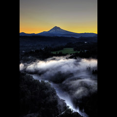 Mt. Hood Pre Sunrise from Jonsrud Viewpoint