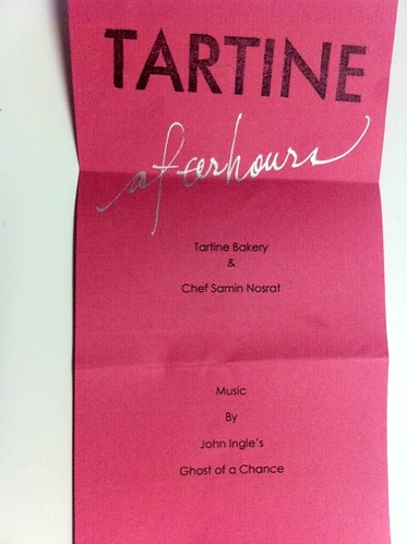 Tartine Menu