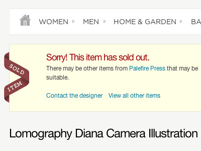 Folksy - Sold out notice