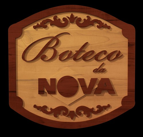 """Placa/Logo """"Boteco da Nova"""" em 3D by adrianocarvalho"""